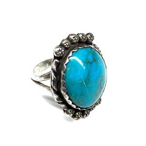 Genuine Sterling Silver Turquoise Ring